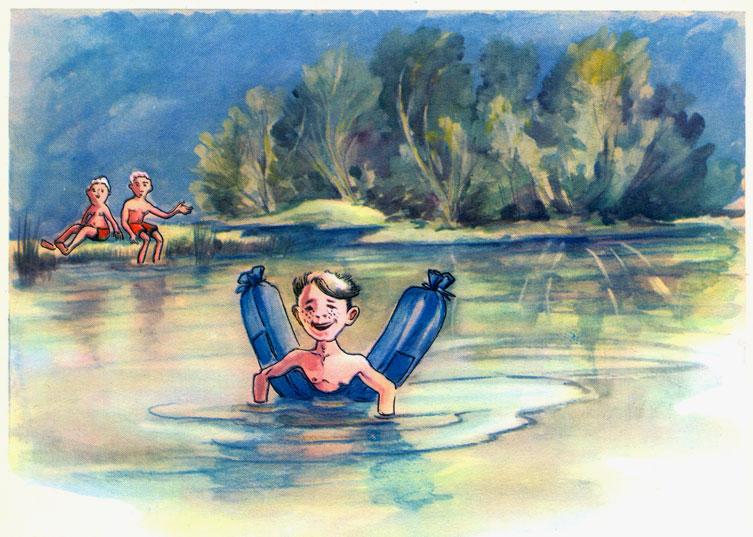 Плавание детский рисунок